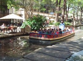 Oddball Escapes baseball road trip tour San Antonio Riverwalk boat tour