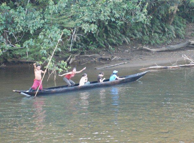 Canoe Ride in the Amazon