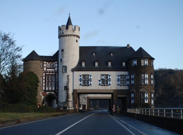 Drive Along the Rhine River in Germany