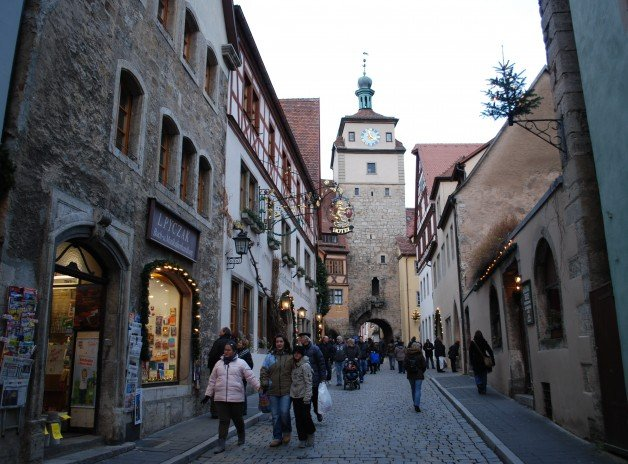 Narrow Streets of Rothenburg, Germany