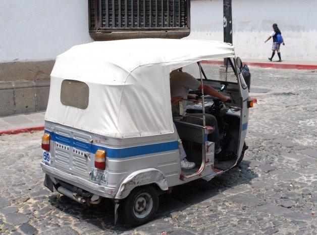 Tuc Tuc Taxi in Antigua, Guatemala