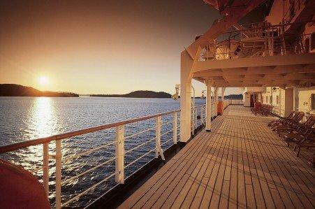 oddball escapes Holland America cruise deck