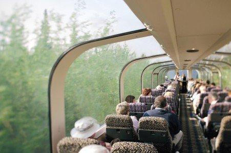 tour guide CruiseTour Holland America train
