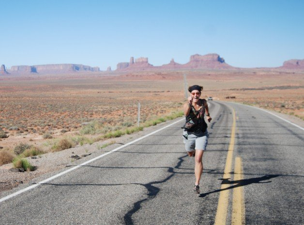 Run Forest Run near Monument Valley