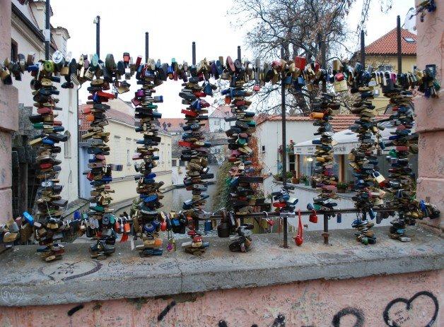 Love Locks on a European Bridge
