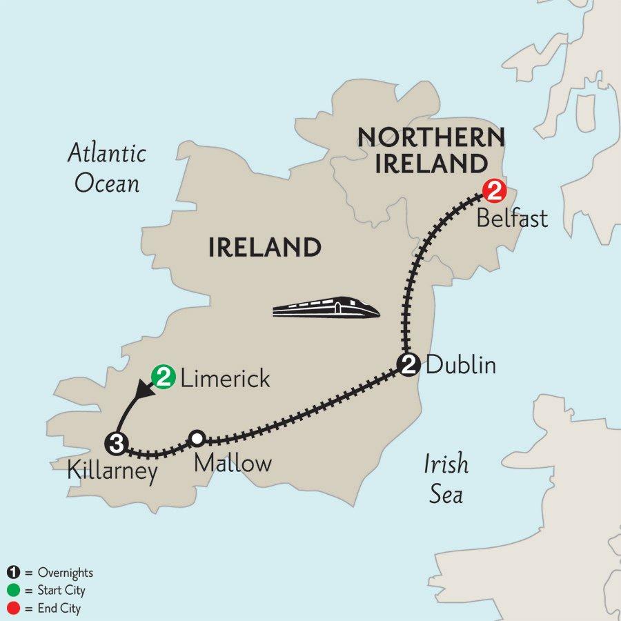 Ireland Limerick Killarney Dublin Belfast Monograms
