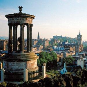 Edinburgh view of Auld Reekie Globus