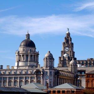England Liverpool city view Globus