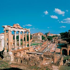 Italy Rome Roman Forum Panorama Monograms