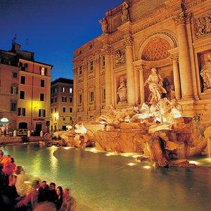 Italy Rome Trevi Fountain Monograms