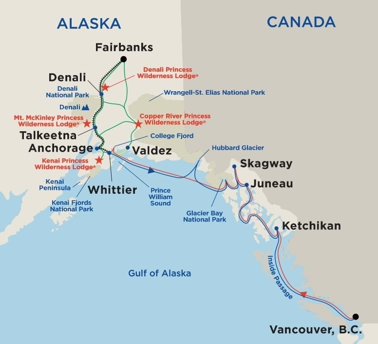Alaska-map-Princess-Cruises