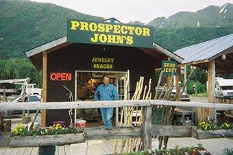 Kenai Gold Panning Prospector John