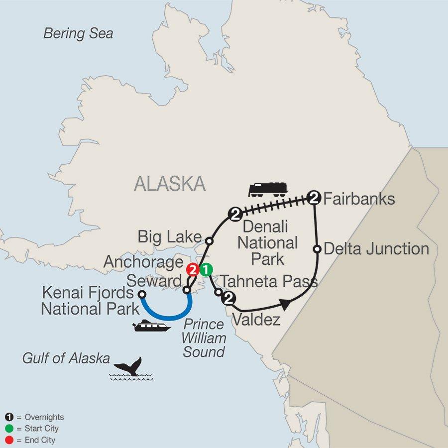 Alaska-escorted-tour-Globus-itinerary-map
