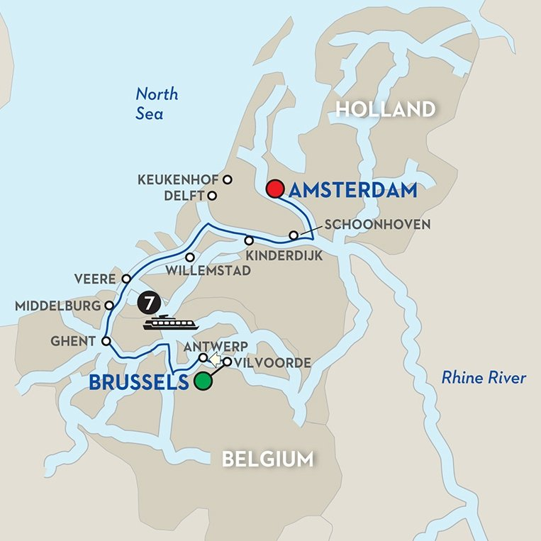 Avalon-Wine-Cruise-7day-Holland-Belgium-itinerary-map