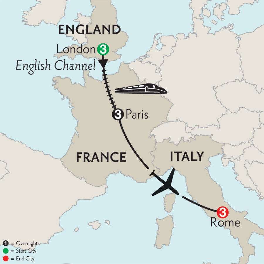 London-Paris-Rome-10day-Monograms-itinerary-map