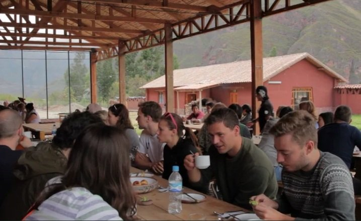 Parwa community restaurant Sacred Valley