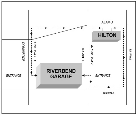 Riverbend parking garage location